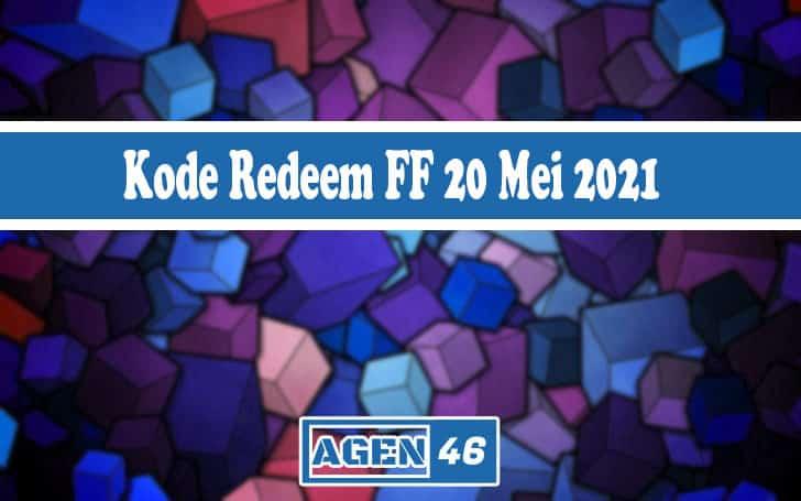 Kode Redeem FF 20 Mei 2021