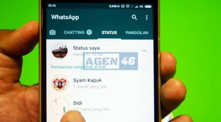 Sembunyikan Penampilan Status gb whatsapp