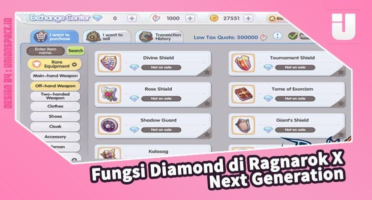 Diamond Functions in Ragnarok X Next Generation
