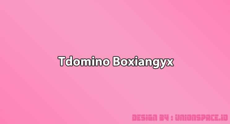 Cover Tdomino Boxiangyx